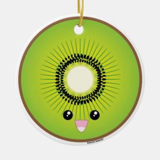 Kawaii Kiwi Christmas Ornament