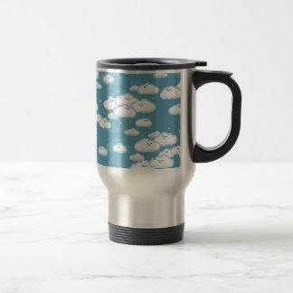 kawaii klouds travel mug