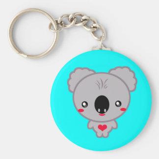 Kawaii Koala Bear Basic Round Button Key Ring