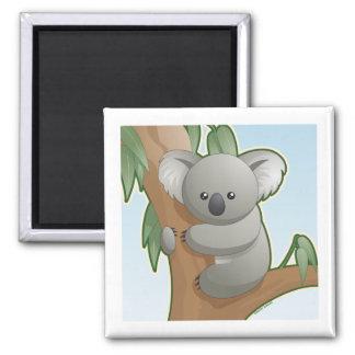 Kawaii Koala Square Magnet