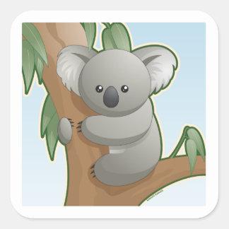 Kawaii Koala Square Sticker