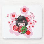 Kawaii Kokeshi Doll Mouse Pad