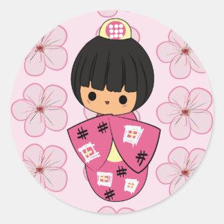 Kokeshi stickers for Stickers kokeshi