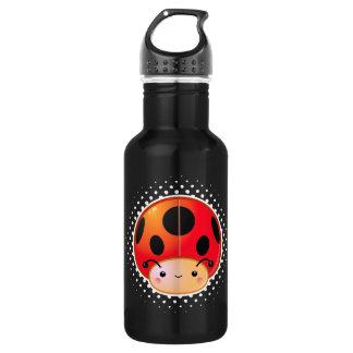 Kawaii Ladybug Mushroom Bottle 532 Ml Water Bottle