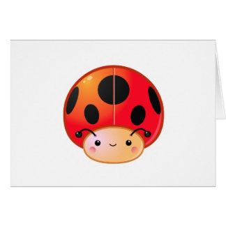 Kawaii Ladybug Mushroom Cards