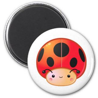 Kawaii Ladybug Mushroom Fridge Magnet