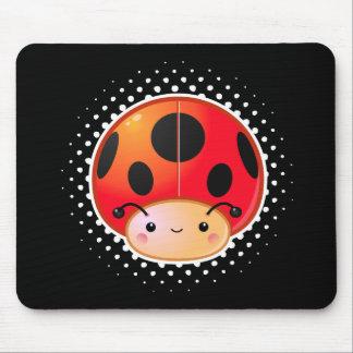 Kawaii Ladybug Mushroom Mouse Pad