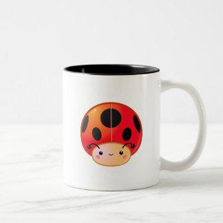 Kawaii Ladybug Mushroom Coffee Mugs