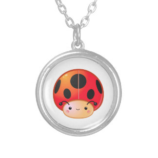 Kawaii Ladybug Mushroom Necklace