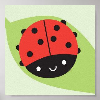 Kawaii Ladybug Poster