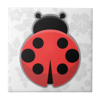 Kawaii Ladybug Small Square Tile