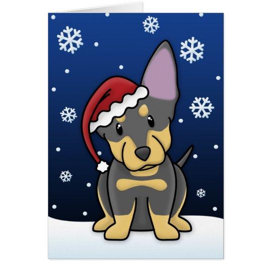 Kawaii Lancashire Heeler Christmas Card