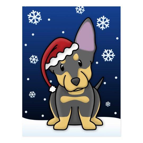 Kawaii Lancashire Heeler Christmas Postcard