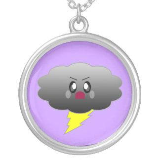 Kawaii Lightning Cloud Sterling Silver Necklace