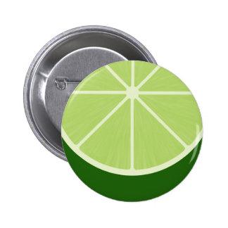 Kawaii Lime Round Button