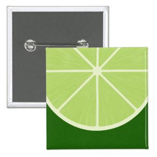 Kawaii Lime Square Button
