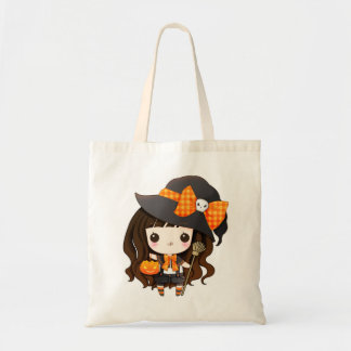 Kawaii little witch tote bag