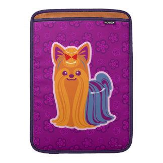 Kawaii Long Hair Yorkie Cartoon Dog MacBook Air Sleeve