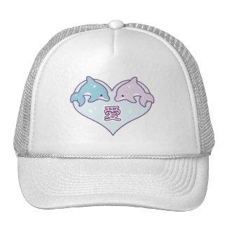 Kawaii Love Dolphins Cap