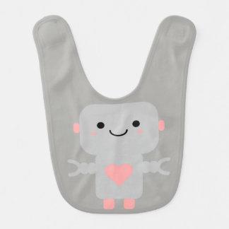 Kawaii Love Robot Baby Bib