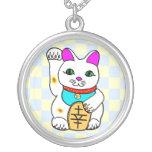 Kawaii Lucky Cat Neko Sterling Silver Necklace