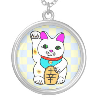 Kawaii Lucky Cat Neko Sterling Silver Necklace