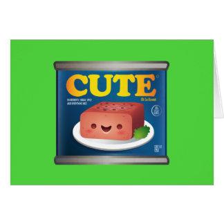 Kawaii Luncheon Meat Note Card