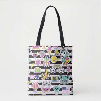 Kawaii Magical Rainbow Unicorn 90s Pastel Tote Bag
