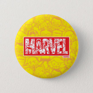 Kawaii Marvel Logo With Super Hero Pattern 6 Cm Round Badge