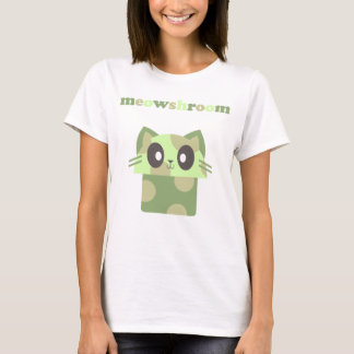 kawaii meowshroom kitty cat mushroom T-Shirt