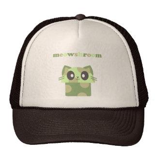 kawaii meowshroom kitty mushroom trucker hat