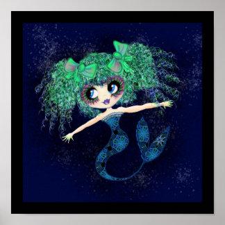 Kawaii Mermaid so cute Poster