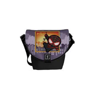 Kawaii Miles Morales City Sunset Courier Bag
