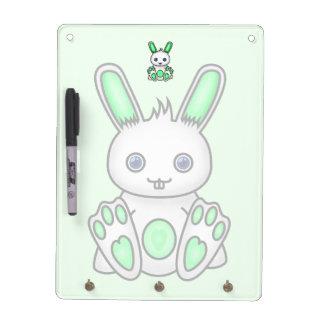 Kawaii Mint Green Bunny Dry Erase Board