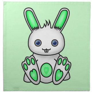 Kawaii Mint Green Bunny Napkin