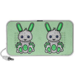 Kawaii Mint Green Bunny Laptop Speakers