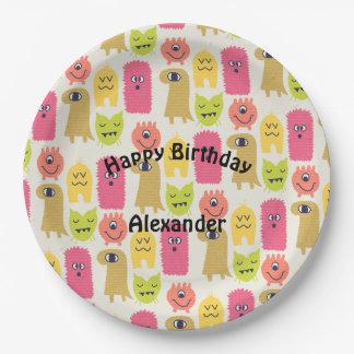Kawaii Monster Birthday Party Plate