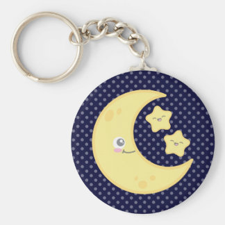 Kawaii Moon and Stars Keychain