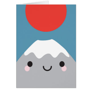 Kawaii Mt Fuji San Card