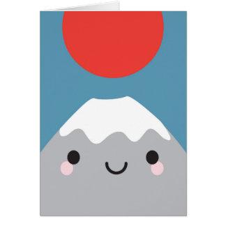 Kawaii Mt Fuji San Note Card