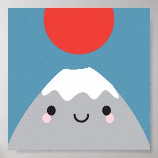 Kawaii Mt Fuji San Poster