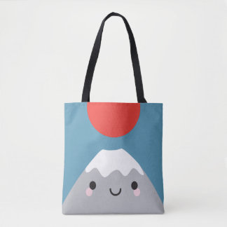 Kawaii Mt Fuji San Tote Bag