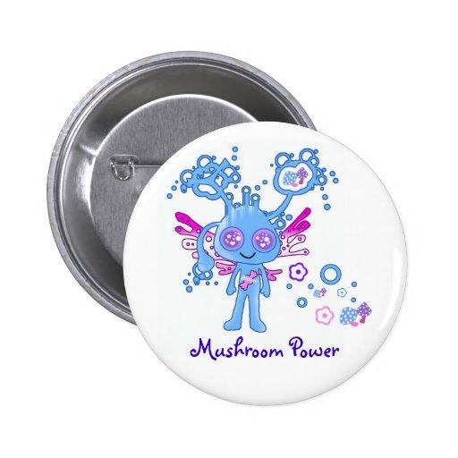 Kawaii Mushroom Power Button