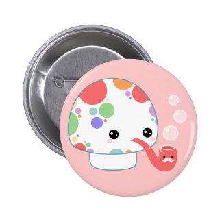 Kawaii Mushroom with Pipe Buttons