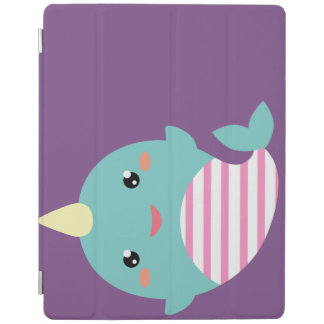 Kawaii Narwhal iPad Cover