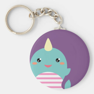 Kawaii Narwhal Key Ring