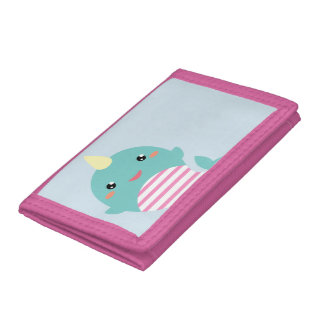 Kawaii Narwhal Tri-fold Wallets