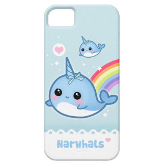 Kawaii narwhals with rainbow iPhone 5 case
