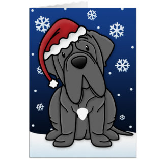 Kawaii Neapolitan Mastiff Christmas Card