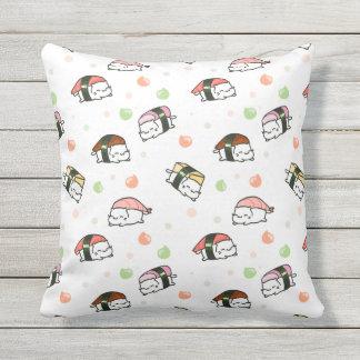 Kawaii Neko Nigiri Outdoor Cushion